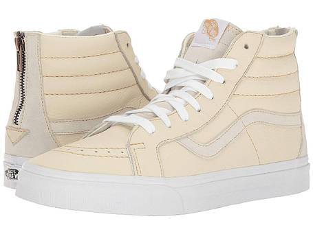 Кроссовки/Кеды (Оригинал) Vans SK8-Hi Reissue Zip (Premium Leather) White/Sand, фото 2