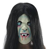 Латекс страшно длинные волосы Хэллоуин анфас маски Садако Hallowmas призрак