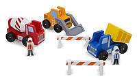 """Деревянный набор """"Строительные машинки"""" для мальчиков с 2 лет / Construction Vehicle Set ТМ Melissa & Doug MD656"""