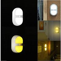 LED Свет ночи человека индукции движения контроль датчик лампы батареи для спальни ванной
