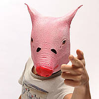 Смешно жутким свинья головы маска косплей животное Хеллоуин костюм театр комедии проп