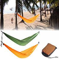 Двойное лицо гамак качели кровать портативный парашют спальная кровать путешествия кемпинга 270 х 150см