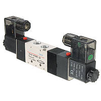 4V230C-08 12 В постоянного тока с двойной головкой 3 позиции 5-ходовой пневматический электромагнитный клапан