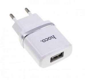 Сетевое зарядное устройство СЗУ HOCO C11 (1USB 1A) с кабелем MICRO белый, фото 2