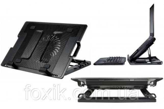 Підставка для ноутбука кулер ErgoStand охолодження для ігор і роботи c 2 USB