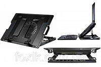 Подставка для ноутбука кулер ErgoStand охлаждение для игр и работы c 2 USB