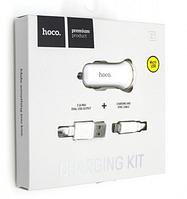 Автомобильное зарядное устройство АЗУ HOCO Z1 2.1A MICRO USB белый