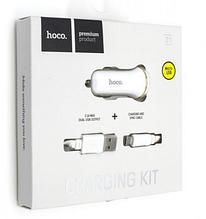 Автомобільний зарядний пристрій АЗУ HOCO Z1 2.1 A MICRO USB білий