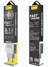 Сетевое зарядное устройство СЗУ SENMAXU 2в1 Micro SMX-017 (2 USB/2.1A)