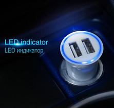 Автомобильное зарядное устройство АЗУ HOCO UC204 (2USB/2.4A) черный, фото 2