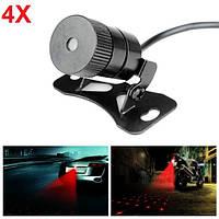 4шт автомобиля лазера противотуманная фара противотуманная свет авто выращивание потепление стиль свет бриллиант