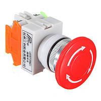 5pcs N / ON / C Аварийный выключатель кнопки Push-гриб 4 Болт Терминалы