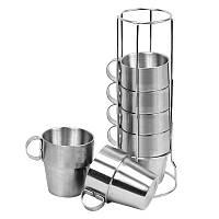 4 шт Открытый Портативный пикник чашки из нержавеющей стали кружек для питья набор анти-горячий чай чашка кофе