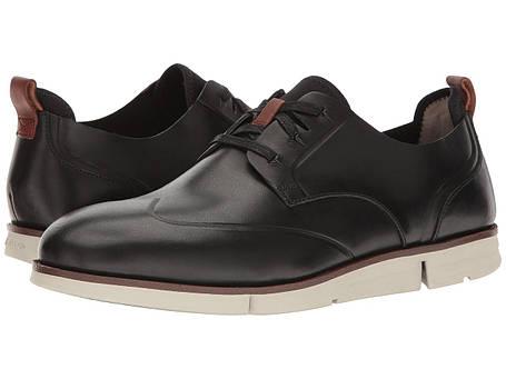 Туфли (Оригинал) Clarks Trigen Wing Black Leather, фото 2