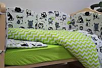 Набор в детскую кроватку Joy (постельное белье, бортики, подушка, одеяло) ТМ Viall 8925