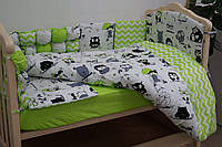 Набор в детскую кроватку Joy (постельное белье, бортики, подушка, одеяло) ТМ Viall 8926