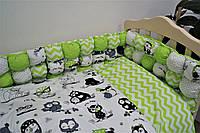Набор в детскую кроватку Joy Бонбон (постельное белье, бортики, подушка, одеяло) ТМ Viall 8928
