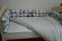Набор в детскую кроватку Joy Бонбон (постельное белье, бортики, подушка, одеяло) ТМ Viall 8929