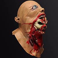 Хэллоуин латексная маска кровавый зомби костюм лицо плавление партия проп