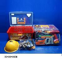 Набор инструментов 2056 (12шт) 48 дет., каска, дрель, молоток, в чемоданчике 35*20*16см