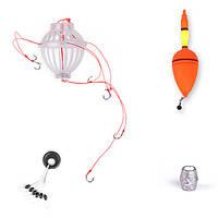 ZANLURE толстолобик пестрый толстолобик Float Рыбалка Set Колючая Шесть сильного взрыва Крючки рыболовные снасти