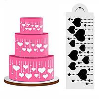 Сердце сторона торт трафарет помадная дизайнер украшения ремесло инструмент печенья выпечки