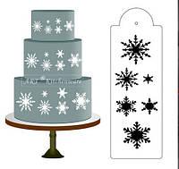 Снежинка сторона торта трафарет границы дизайнера украшения ремесло инструмент печенья выпечки