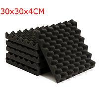6pcs 30x30x4cm звукоизоляцию треугольник звукопоглощающих пены шум плитки
