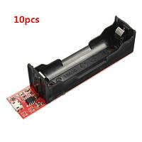 10pcs 18650 зарядки аккумулятора держатель для зарядки платы TP4056 0.3a / 0.5a / 0.8A