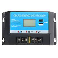 12 / 24v солнечный регулятор заряда контроллер с USB-портом 20A ЖК-дисплей