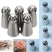 5 шт нержавеющей стали шаровые форсунки насадки для изготовления кондитерских изделий декора