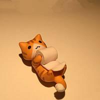 Крошечные д 4см маленькая кошка с обмоткой бумаги мини-орнамент статей