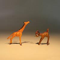 Крошечный размер олень жираф мини украшение изделия кукольный / офис / дом / автомобиль для меблировки