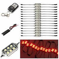 14 штук 84-LED неоновые огни акцент красный для мотоцикла велосипеда с пультом дистанционного управления