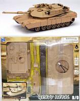 Сборная модель 61395 танк M1A1 на батарейке 1:32 кор. /12/