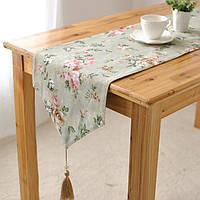 Элегантный роза хлопок белье таблица бегуна бюро крышка теплоизоляция чаши коврик коврик посуда