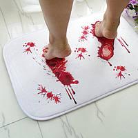 Хэллоуин ужас крови следы нескользящей коврик на пол ванной комнаты кухня спальня тряпка ковер декор