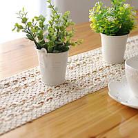 Кружева полые хлопок посуда коврик бегун стол скатерть бюро крышка теплоизоляция чаши накладка