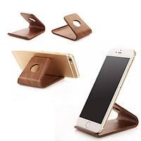 Деревянный настольный универсальный держатель для сотового телефона с держателем для iPhone Samsung HTC