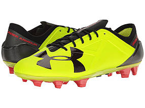 Кроссовки/Кеды (Оригинал) Under Armour UA Spotlight FG High-Vis Yellow/Rocket Red/Black