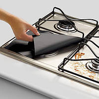 Honana 4штк Кухня многоразовые Алюминиевая фольга Газовая плита горелки протектора крышки Liner Clean Мат Pad