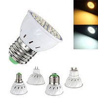 E27 E14 GU10 MR16 3.5W 24 SMD 5050 LED Чистый белый теплый белый Spotlightt Bulb AC110V AC220V