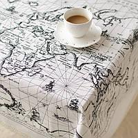 Карта мира Шаблон Хлопчатобумажная льняная посуда Мат Скатерть Настольная крышка Теплоизоляционная чаша 3 Размер