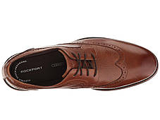 Туфли (Оригинал) Rockport Wyat Wingtip Oxford Cognac Leather, фото 2