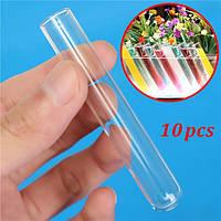 10pcs 12x75mm лаборатории химии изделия из стекла боросиликатного стекла обучение пробирки