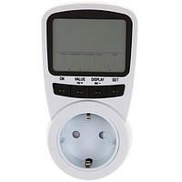 TS-1500 профессиональный цифровой ЖК электрической энергии Счетчик энергии напряжения тока Потребляемая мощность монитора EU / US / UK штекер