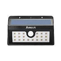 ARILUX® AL-SL05 беспроводной солнечный 20 LED водонепроницаемый PIR датчик движения на открытом воздухе теплый белый свет стены