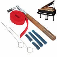 8шт настройка пианино L-образный Hammer ключ рычаг немой комплект резиновые полоски заглушает музыка