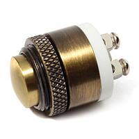 16 мм Моментный латунный металлический кнопочный выключатель дверного звонка