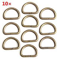 10 штук D кольца металлический наконечник ленты застежки ранец пряжки ремня